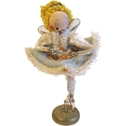 Vintage Christmas Figure, Ballerina Angel Japan