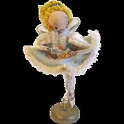 Vintage Christmas Figure, Ballerina Angel Japan