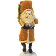 Very Early Clay-Faced Santa Claus with Stand Made in Japan