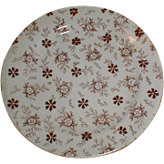 1860 Brown Transferware Child's Tea Plate (3 available)