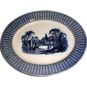 Lovely Flow Blue Transfer Printed Platter, PANDORA, Soho Pottery