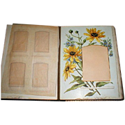 Gorgeous Victorian Leather Photograph Album, 8 Floral Pages