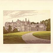 British Ancestral Home Xylography Bushton Hall F.O. Morris