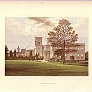 British Ancestral Home Xylography Stowlangtoft Hall F.O. Morris
