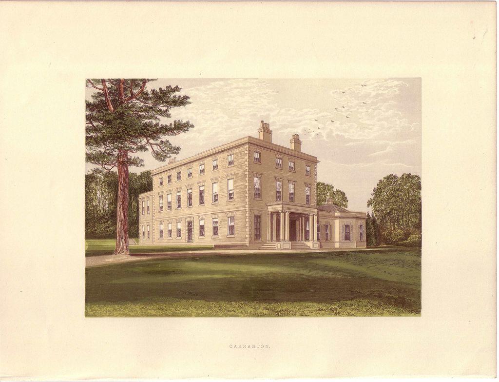 British Ancestral Home Xylography Carnanton F.O. Morris