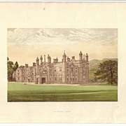 British Ancestral Home Xylography GLANUSK FARE F.O. Morris