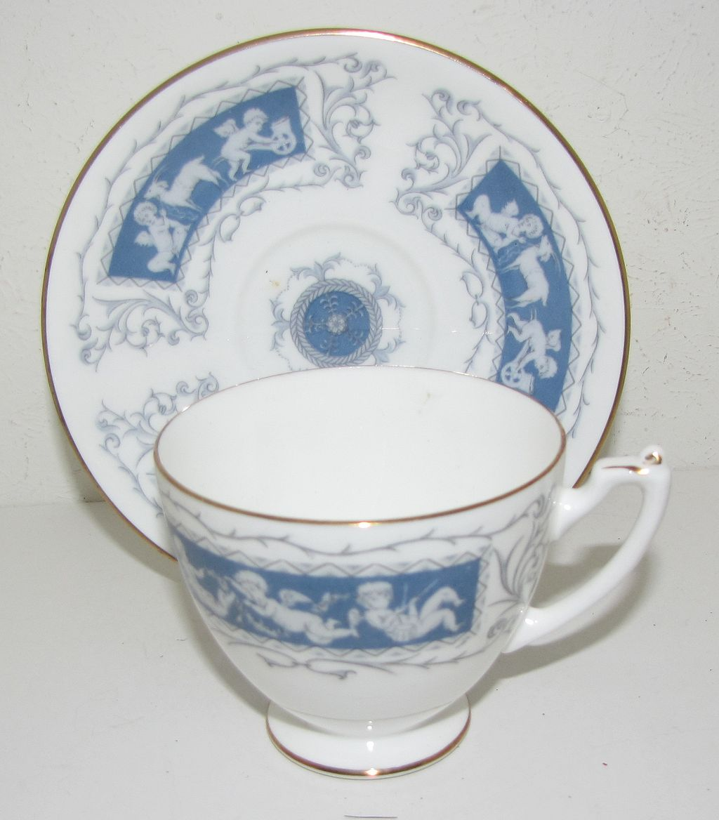 Lovely Bone China Cup & Saucer, Revelry, Coalport
