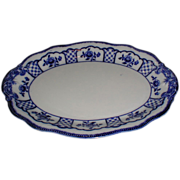Lovely Flow Blue Platter, MELBOURNE, W. H. Grindley 1900