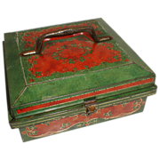 Lovely Colorful British Huntley & Palmers Biscuit Tin 1905 Jewel Case