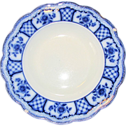 Group of 4 Flow Blue Soup Plates MELBOURNE Grindley