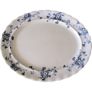 Lovely Flow Blue Platter (Small) Furnivals CARNATION c. 1890