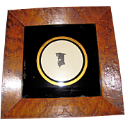 Early Painted Silhouette GRADUATE Birds-Eye Maple Frame