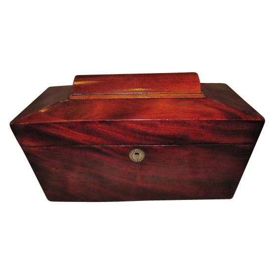 Large Lovely Georgian Mahogany Tea Caddy