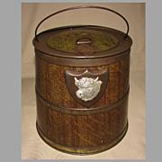 Outstanding Early 1900's Colman's Bull's Head Mustard Tin, Barrel