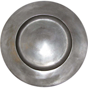 "12"" 18th Century Pewter Charger, LONDON SUPERFINE"