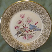 Lovely Lenox Boehm Dinner Plate, Mountain Bluebird 1972