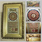Antique Needlework Framed Under Glass, Sampler & Embroidery