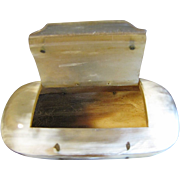Unusual Antique Snuff Box, Horn