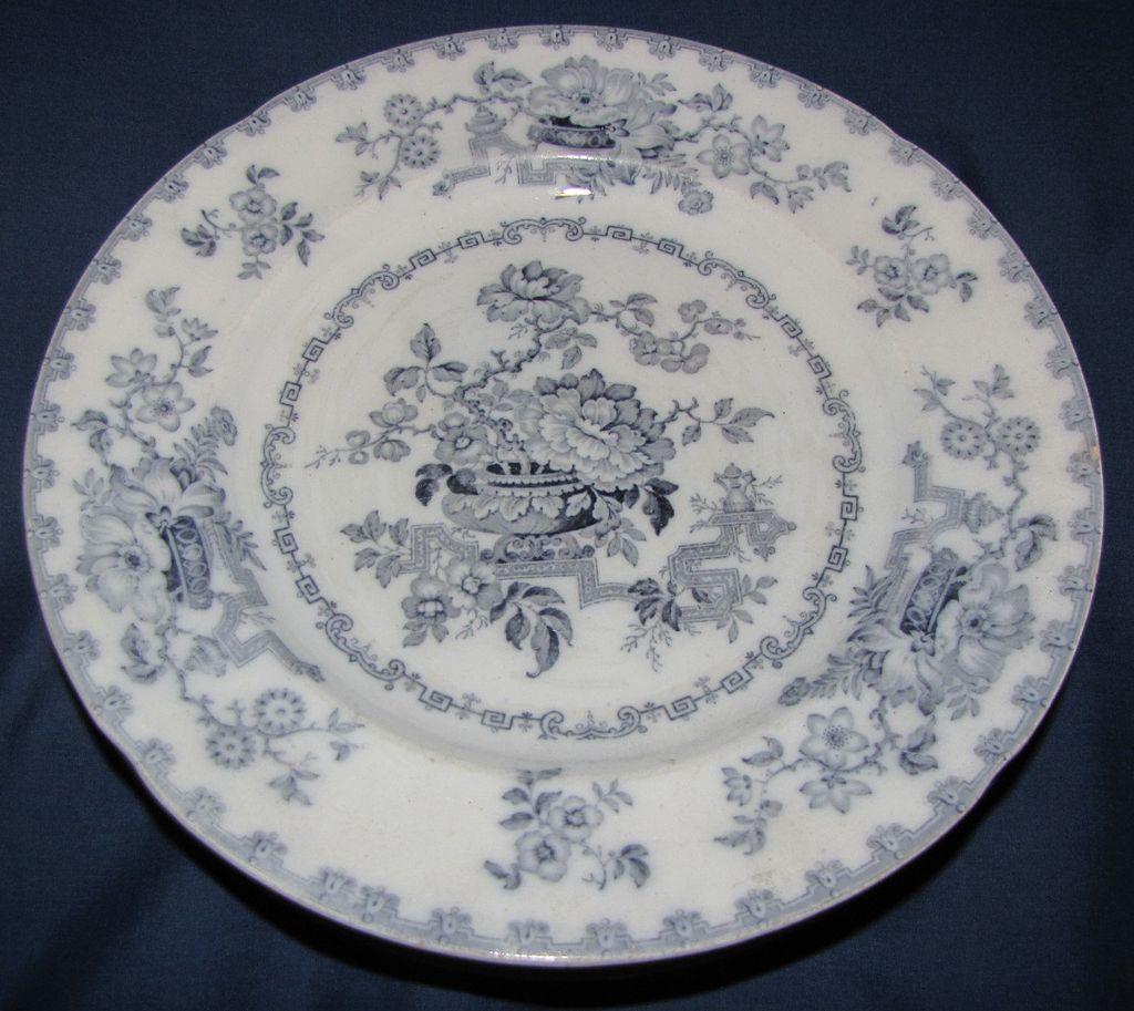 Lovely Transferware Plate NANKIN JAR Ridgway & Morley c.1842