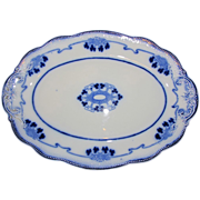 Lovely Flow Blue Platter, LORNE, W. H. Grindley, c. 1900