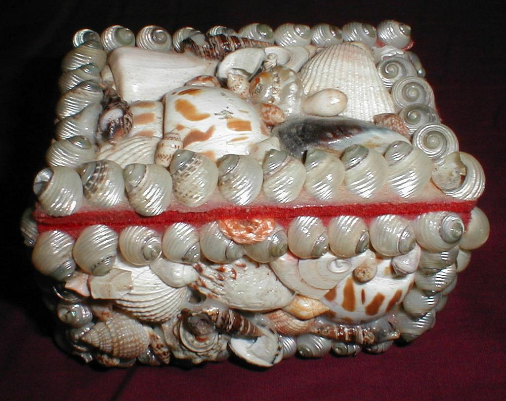 Collectible Vintage Shell Box, Souvenir