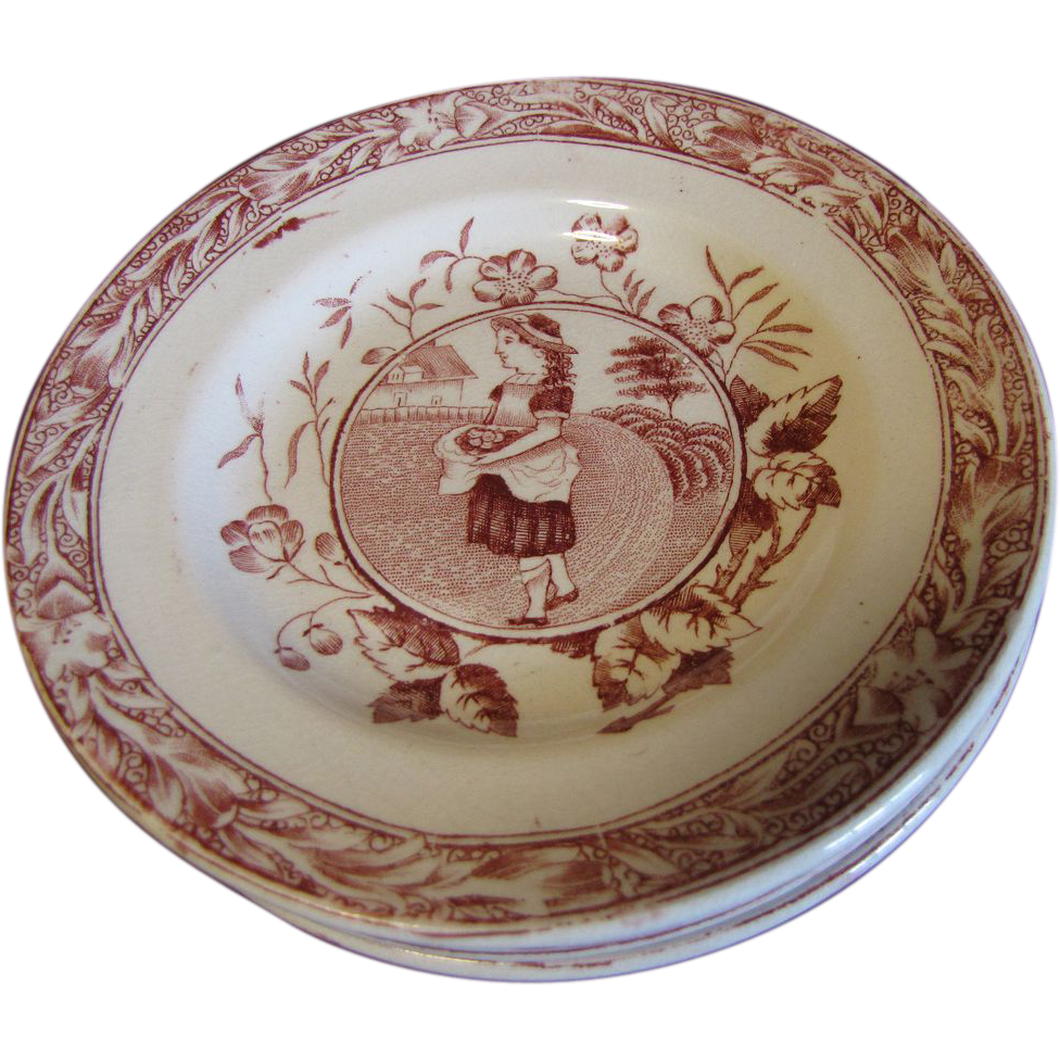 Lovely Plate from Tea Set MISS MAY Allerton England ca 1880