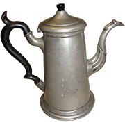 Large 19th Century Pewter Teapot (Coffee Pot) Shaw & Fisher Sheffield