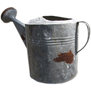 Large Vintage Galvanized Watering Can (10)