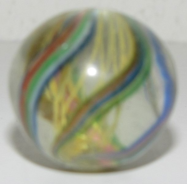 Beautiful Vintage Glass Nebula Marble, Handmade
