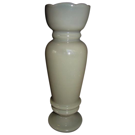 Single Victorian Clambroth Bristol Vase, No Decoration