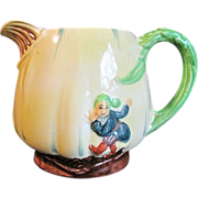 Great Collectible Burleigh Ware Pitcher, Elf in Relief