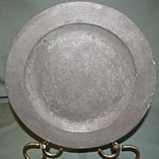 16th Century Pewter Plate, Samuel Ellis, London