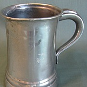 Circa 1850 Pewter Straight-Side (Tall) Half Pint Measure, LOWE
