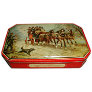 Vintage George Horner Toffee Tin, Stage Coach Horses