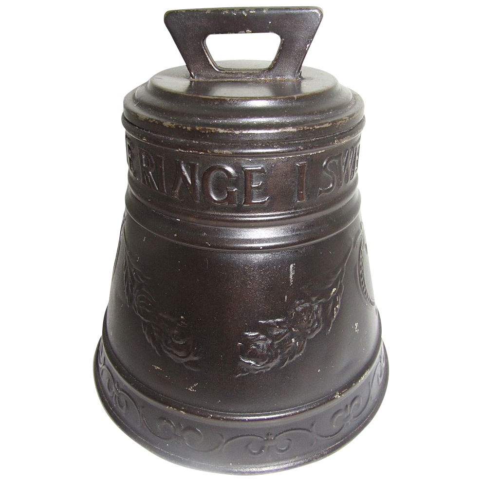 1912 Antique British Biscuit Tin, Huntley & Palmers, LIBERTY BELL