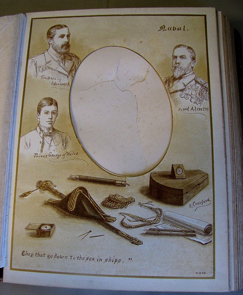Most Unusual Victorian Photograph Album, 11 Hand-Colored Lithograph Pages