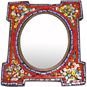 Antique Micro Mosaic Table-Top Photograph Frame, Made in Italy