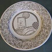 Aesthetic Brown Transferware Child's Tea Plate, AVONA, CA 1881