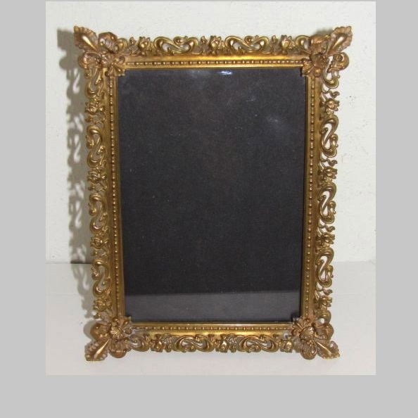 Antique Stamped Brass Brass Table-Top Photograph Frame