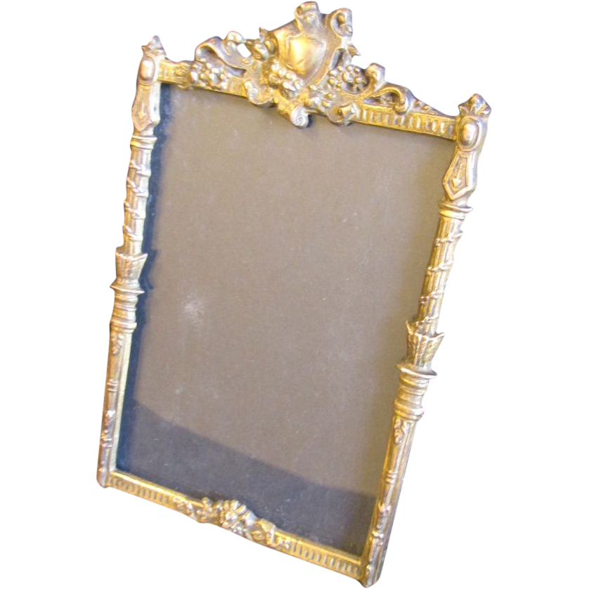 Lovely Antique Solid Brass Table-Top Photograph Frame