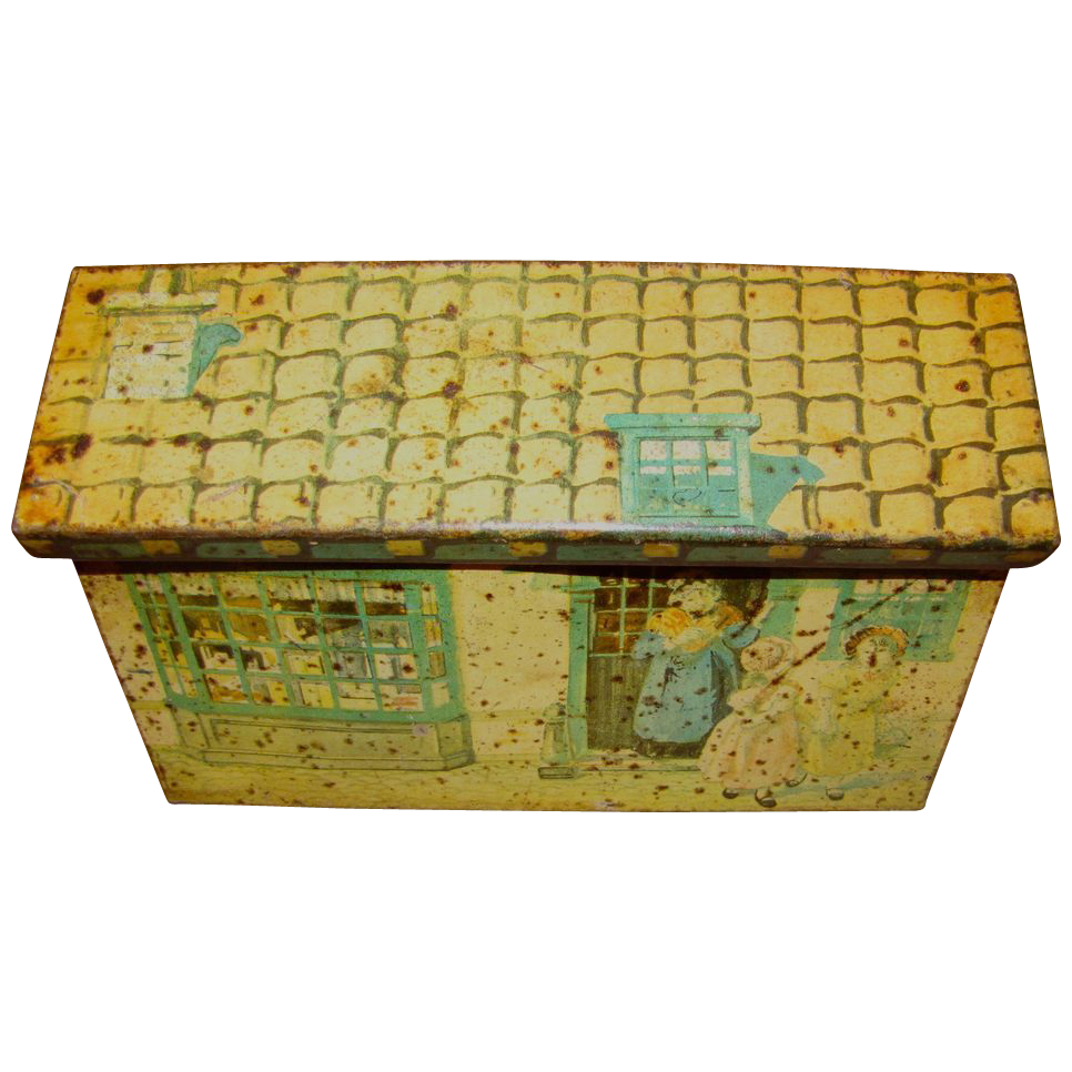 Vintage Italian Biscuit Tin, Cottage Box, The Brothers Gattorno, Ca 1930