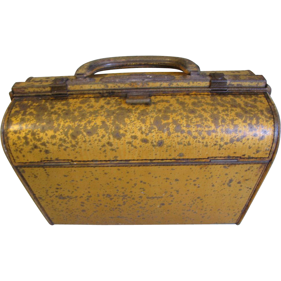 1904 British Biscuit Tin, Huntley & Palmers, HANDBAG