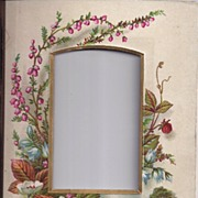 Lovely Floral Chromolithograph From Victorian Album, CDV