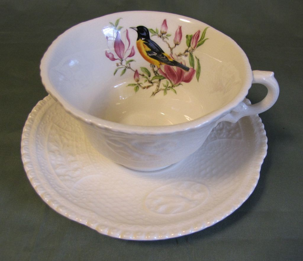 Lovely Ironstone Cup & Saucer, Royal Cauldon, Baltimore Oriole