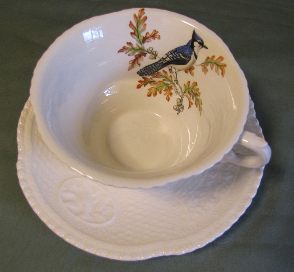 Lovely Ironstone Cup & Saucer, Royal Cauldon, Red-Winged Blackbird