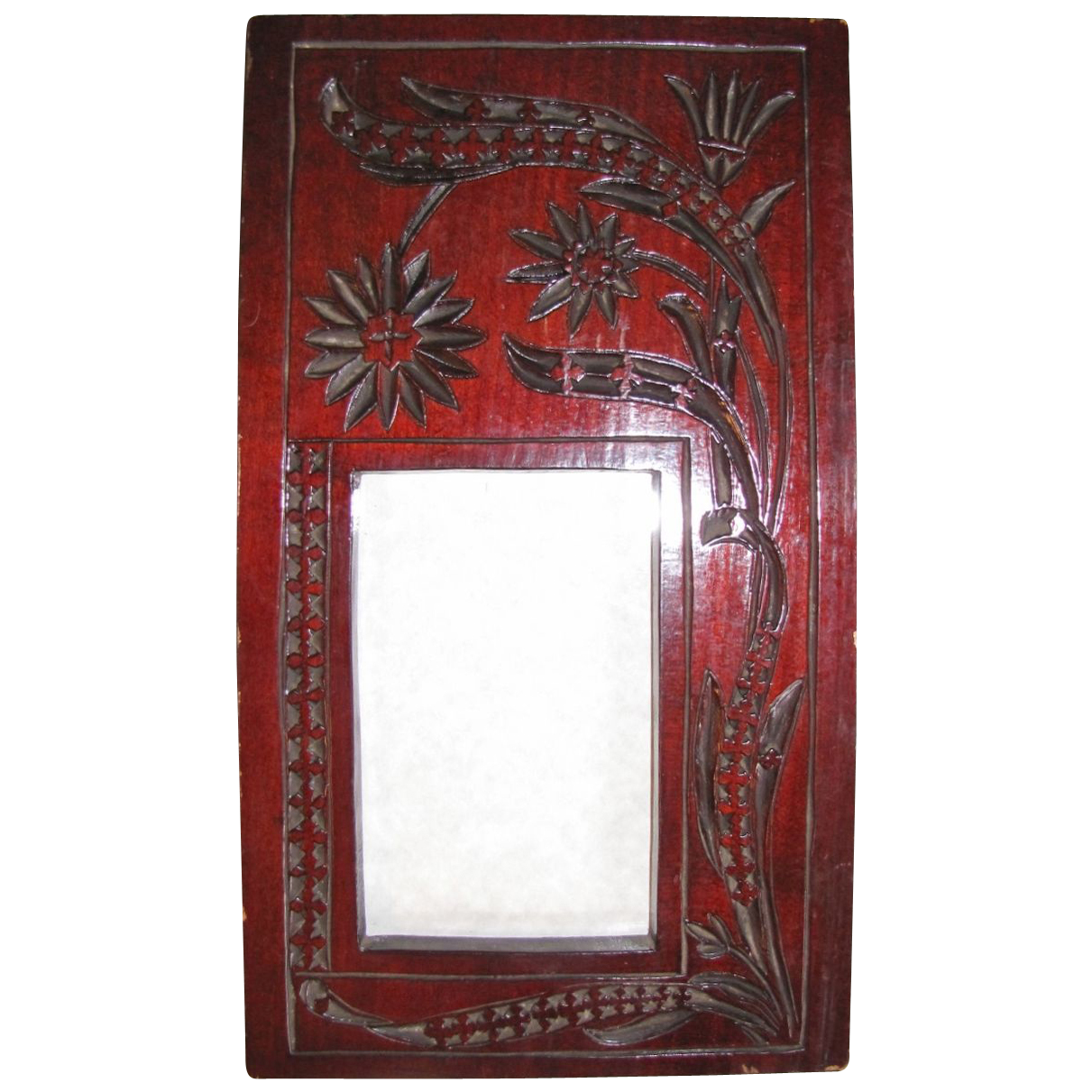 Lovely Carved Wood Photograph Frame, Cabinet Photograph Size