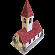 Vintage Cardboard Church w/Steeple Christmas House