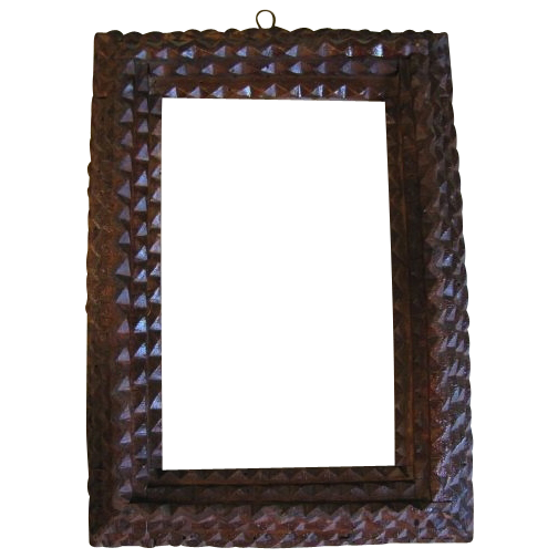 Antique 4 Layer Chip Carved Tramp Art Frame From Tomjudy