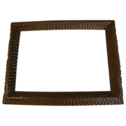 Antique 6-Layer Chip Carved Tramp Art Frame