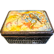 Vintage Tin Box (Small), Lovely Bird in the Floral Branches, Holland